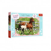 Puzzle Cavalos Sweet and Lovely 160 peças