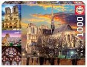 Puzzle Colagem de Notre Dame 1000 peças