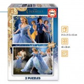 Puzzle Disney Cinderela 2x100 pcs