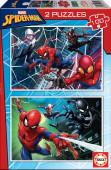 Puzzle Duplo 100 peças Spiderman Marvel