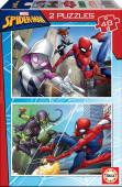 Puzzle Duplo 48 peças Spiderman Marvel
