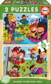 Puzzle Duplo Madeira 25 pç Parque de Atrações Educa