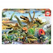 Puzzle Educa Dinossauros 500 peças