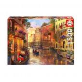 Puzzle Entardecer em Veneza 1500 peças