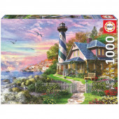 Puzzle Farol em Rock Bay 1000 peças