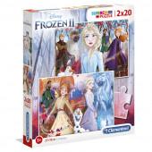 Puzzle Frozen 2 Disney 2x20 peças