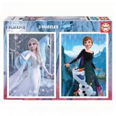 Puzzle Frozen 2 Disney 2x500 peças