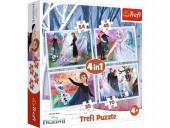 Puzzle Frozen 2 Disney 4 em 1