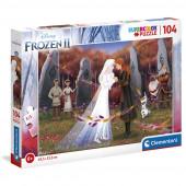 Puzzle Frozen 2 Irmãs Disney 104 peças