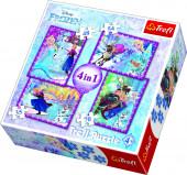 Puzzle Frozen 4 em 1