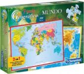 Puzzle Geográfico Mundo 104 peças
