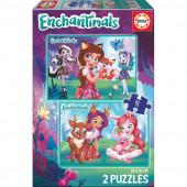 Puzzle Infantil 2x48 Enchantimals
