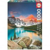Puzzle Lago Morraine Canadá 1000 peças