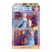 Puzzle Madeira 2x25 peças Frozen 2