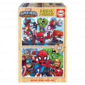 Puzzle Madeira 2x25 peças Marvel