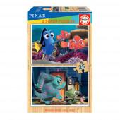 Puzzle Madeira 2x25 peças Pixar
