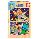 Puzzle Madeira 2x25 peças Toy Story 4