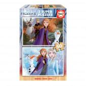 Puzzle Madeira 2x50 peças Frozen 2
