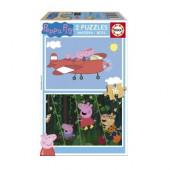 Puzzle madeira Peppa Pig 16 peças