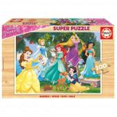 Puzzle madeira Princesas Disney 100pç
