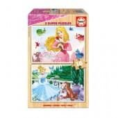 Puzzle madeira Princesas Disney -16 peças