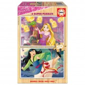 Puzzle madeira Princesas Disney