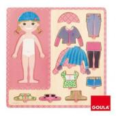 Puzzle madeira vestir menina Goula