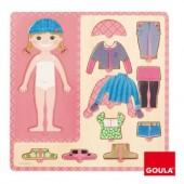 Puzzle madeira vestir menina