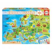Puzzle Mapa da Europa 150 peças
