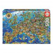Puzzle Mapa da Europa 500 peças
