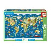 Puzzle Mapa Mundo Sean Sims 200pcs