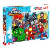 Puzzle Maxi Super Heroes Marvel 60 peças