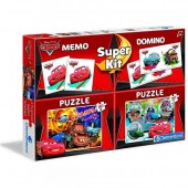 Puzzle Mc Queen Cars Disney 2x30pz + Memo + Domino