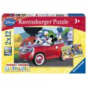 Puzzle Mickey e Amigos Disney 2x12 peças