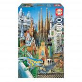 Puzzle Miniatures Collage Gaudí 1000 peças