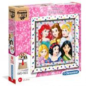 Puzzle Moldura Princesas Disney 60 peças