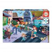 Puzzle Na Cidade 100 peças