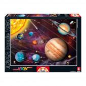 Puzzle Neon Sistema Solar 1000 peças