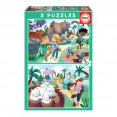 Puzzle No Zoo 2x20 peças