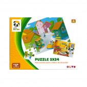 Puzzle Panda 2x24 peças