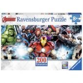 Puzzle Panorama Avengers Marvel 200 peças
