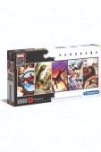 Puzzle Panorama Marvel 80 anos 1000 peças