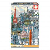 Puzzle Paris City 200 peças