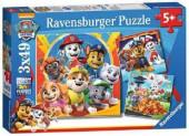 Puzzle Patrulha Pata 3x49 peças