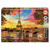 Puzzle Pôr do Sol Paris 3000 peças