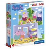 Puzzle Porquinha Peppa 2x20 peças