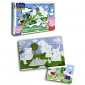 Puzzle Porquinha Peppa para colorir