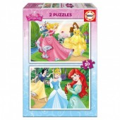 Puzzle Princesas Disney dois em um