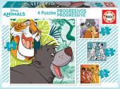 Puzzle Progressivo 4 em 1 Animais Disney 2