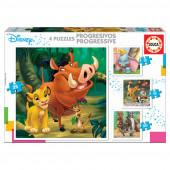 Puzzle progressivo 4 em 1 Animais Disney